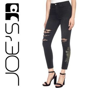 The Charlie High Rise Jeans Skinny Ankle Ripped